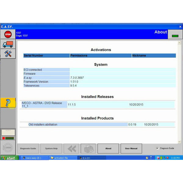 Diagnostics System Compatible With Iveco truck Laptop Edition