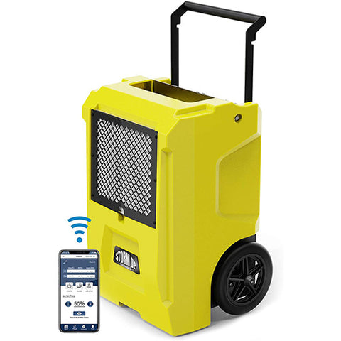 AlorAir Storm DP Dual Voltage Commercial Dehumidifier with APP Control, 50 Pint Dehumidifier for Crawl Spaces, Basements, Garages, and Job Sites, Industrial Water Damage Equipment
