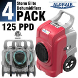 ALORAIR® Storm elite 125 Pint commercial restoration dehumidifiers (Pack of 4) wholesale package of restoration equipment