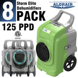 ALORAIR® Storm Elite 125 Pint commercial restoration dehumidifiers (Pack of 8) wholesale package of restoration equipment
