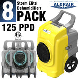 AlorAir Storm Elite Smart WiFi Dehumidifier, 125 PPD Commercial Dehumidifier with Pump, Roto-Mold Body, LCD Display, cETL, 5 Years Warranty, Industrial dehumidifier for Disaster Restoration