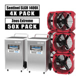 AlorAir® Ultimate pack 4 commercial dehumidifiers 140 Pint + 50 air movers water damage restoration equipment package
