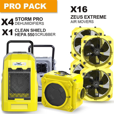 AlorAir® Pro pack commercial dehumidifiers , air movers and scrubber water damage restoration equipment package