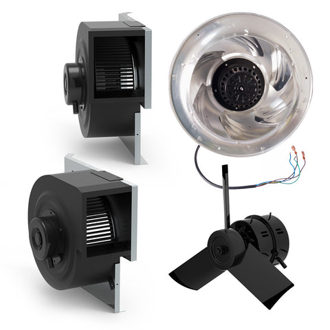 Complete fan assembly