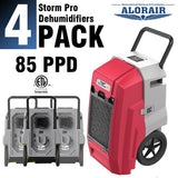 ALORAIR® Storm PRO 85 Pint commercial restoration dehumidifiers(Pack of 4) wholesale package of restoration equipment