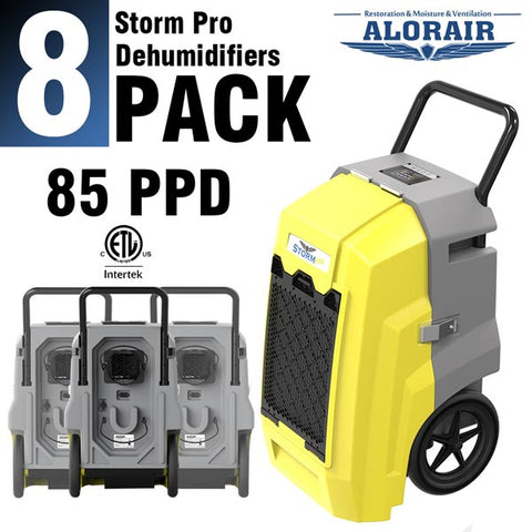 ALORAIR® Storm Pro 85 Pints/Day Commercial Restoration Dehumidifiers (Pack of 8) Wholesale Package of Restoration Equipment