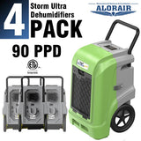 ALORAIR® Storm Ultra 90 PPD commercial restoration dehumidifiers (Pack of 4) wholesale package of restoration equipment