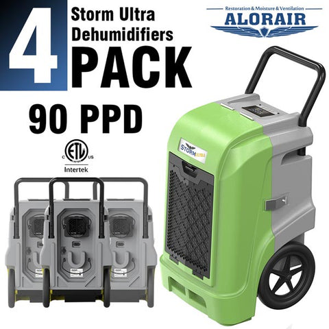 ALORAIR STORM ULTRA LGR 90 PINTS/DAY COMMERCIAL WATER DAMAGE RESTORATION DEHUMIDIFIER, CAPACITY: 90 PPD (AHAM), 180 PPD (SATURATION)