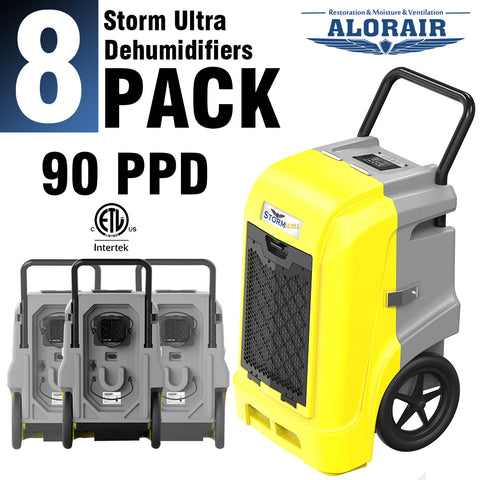 ALORAIR® Storm ULTRA 90 PPD commercial restoration dehumidifiers (Pack of 8) wholesale package of restoration equipment