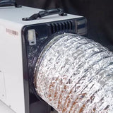 Aluminum foil intake duct 12 inches diameter 13 ft long with duct clamps for HD90/HDi90