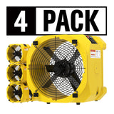 ALORAIR® Wholesale packs zeus extreme axial air movers (pack of 4) industrial fan blowers for water damage restoration