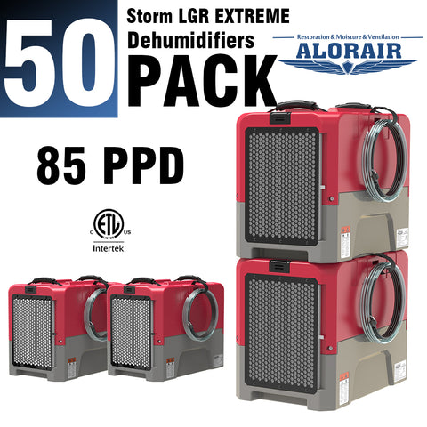 ALORAIR® Storm LGR Extreme 85 Pint commercial restoration dehumidifiers (Pack of 50) wholesale package of restoration equipment