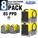ALORAIR® Storm LGR extreme 85 Pint commercial restoration dehumidifiers (Pack of 8) wholesale package of restoration equipment