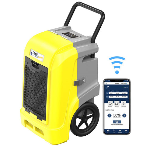 AlorAir Storm Ultra 90 PPD Industrial Commercial Large Dehumidifier with Wi-Fi Controls, for Basements, Garages, and Flood Restoration, with a Pump, cETL Listed, 5 Years Warranty
