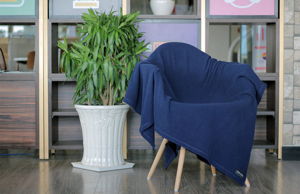 Imperial Blue Microfleece Blanket by Forever Home Blankets