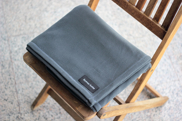 Slate Gray Microfleece Blanket by Forever Home Blankets