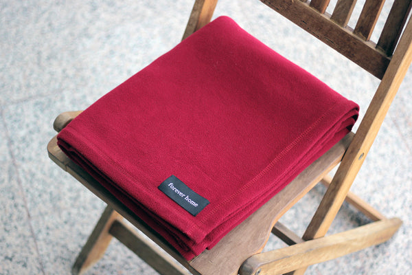 Burgundy Red Microfleece Blanket with FREE USA SHIPPING by Forever Home Blankets