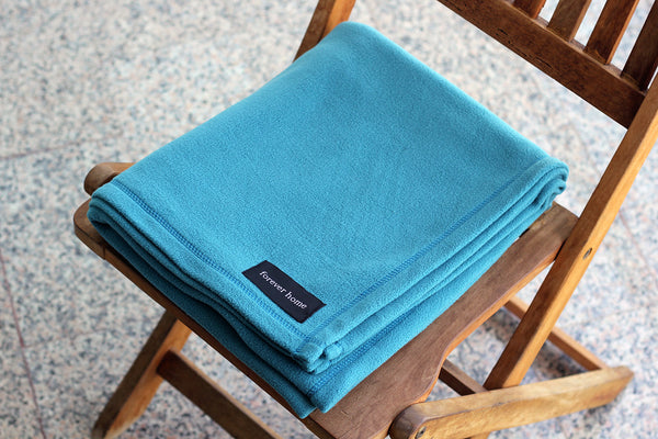 Royal Turquoise Microfleece Blanket by Forever Home Blankets
