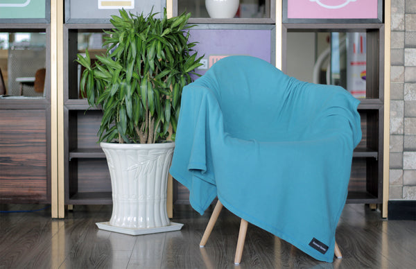 Royal Turquoise Microfleece Blanket with FREE USA SHIPPING by Forever Home Blankets