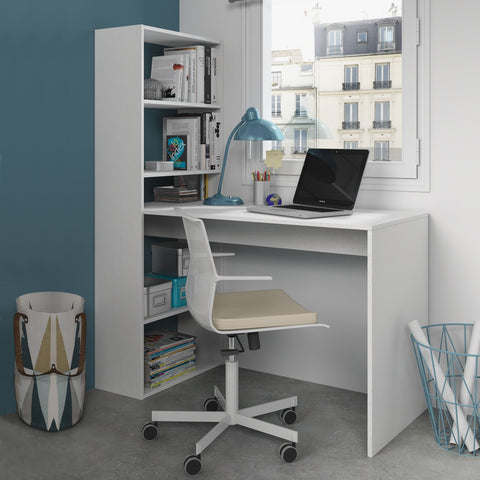 Duplo space saving computer desk with bookcase