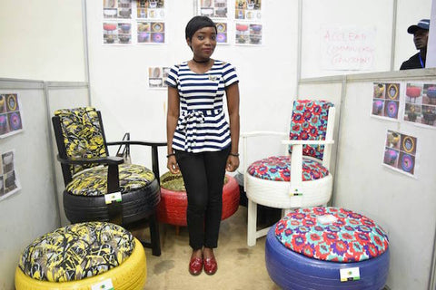 Banke makes furniture from old tyres