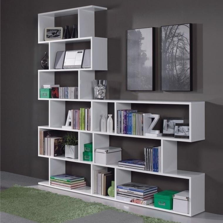 ATHENA Bookcase Display Unit in White - 2 Sizes - Online4furniture