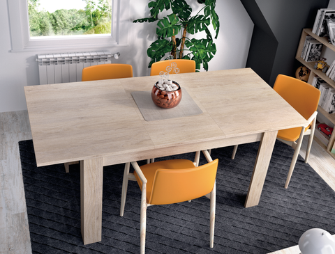 LANZA 140cm-190cm Extending Dining Table in Canadian Oak