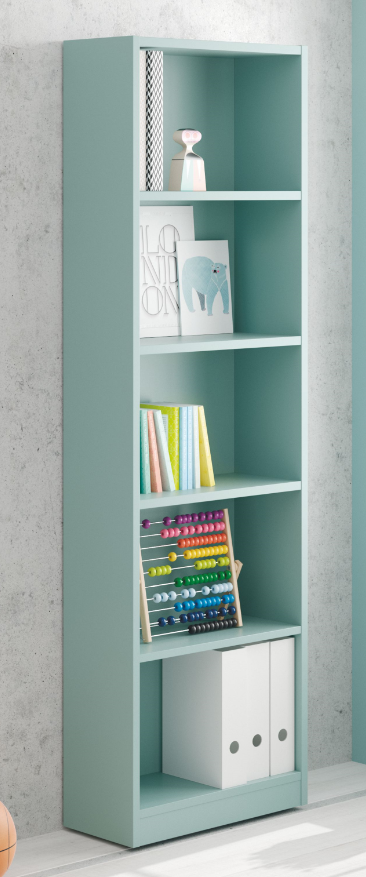 iJOY - 5 Tier Open Bookcase - Aqua