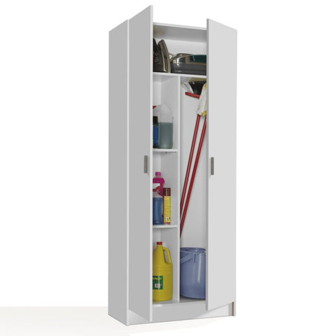 VITA Utility 2 Door Broom Cupboard - 2 Colours - Online4furniture