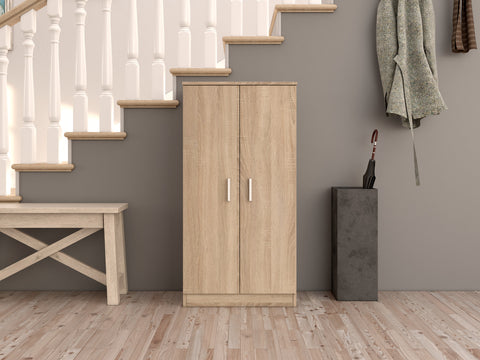 BELLINI 2 Door Shoe Cabinet in Canadian Oak