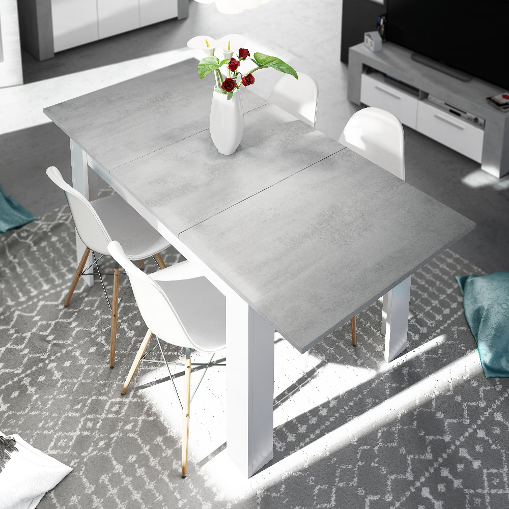 LANZA - 140cm-190cm Extending Dining Table - 5 Colours - Online4furniture