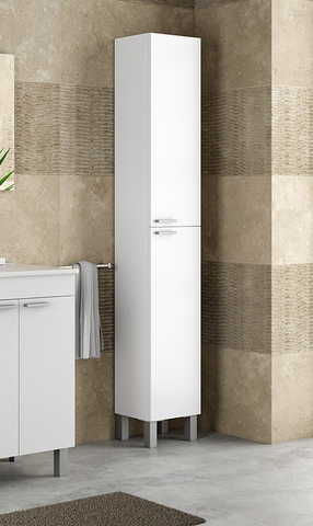BALTIC Bathroom Storage Column in White