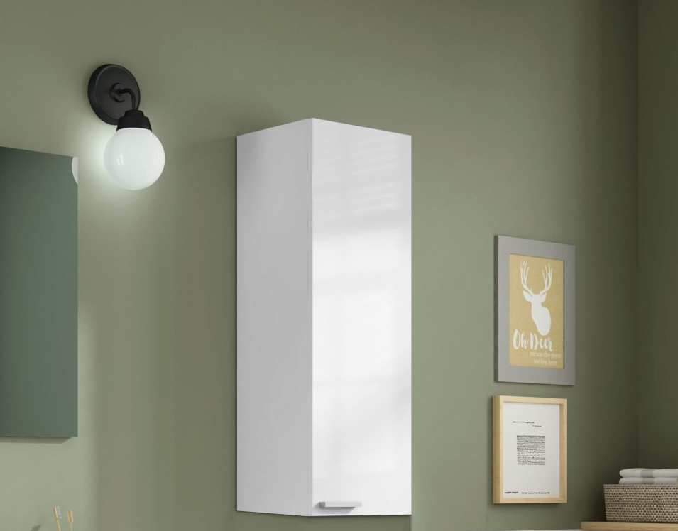 BALTIC Bathroom Wall Cabinet in white - Online4furniture