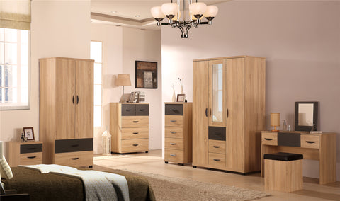 PACIFIC - Bedrooom Furniture Range in Somano Oak & Grey Ash