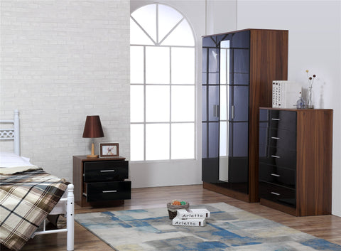 REFLECT SETS - High Gloss Bedroom Furntiure Range - 6x 3 Piece / 6x 4 Piece & 5x Colours - Online4furniture