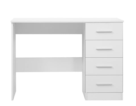 REFLECT High Gloss 4 Drawer Dressing Table / Desk in White / Matt White - Online4furniture