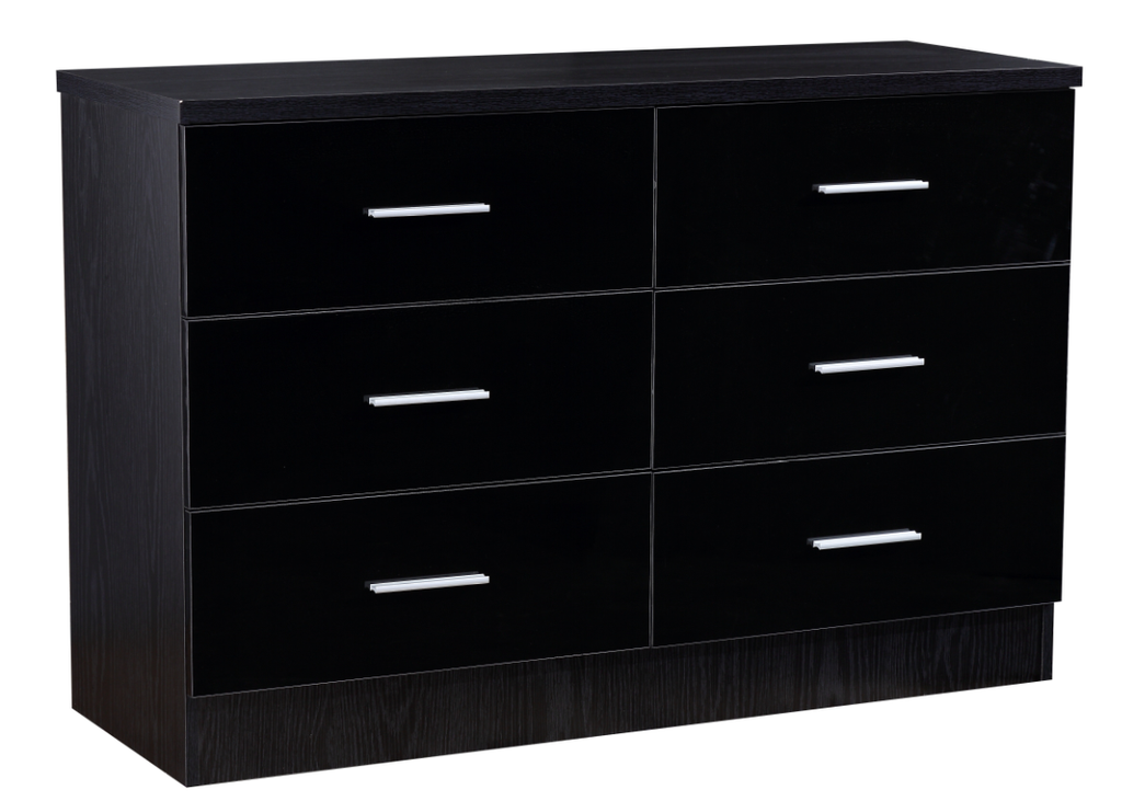 REFLECT XL High Gloss 6 Drawer Chest of Drawers - 4 Colours - Online4furniture