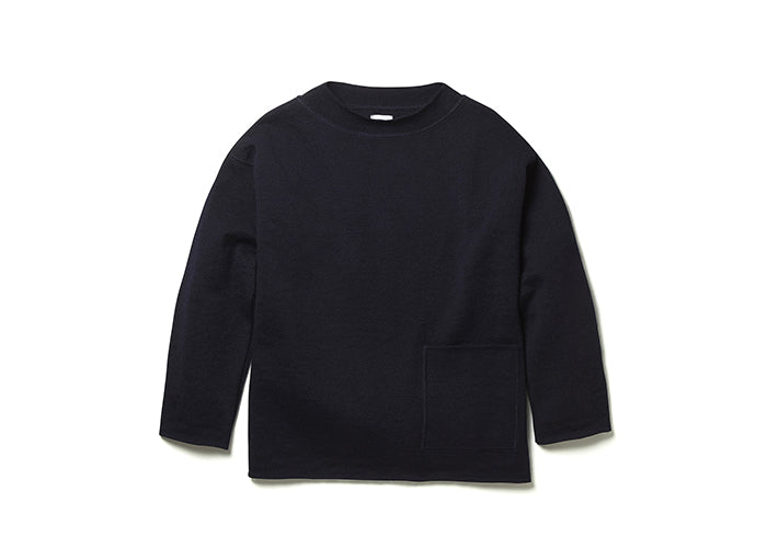 Albam Knitted Fisherman's Smock in Navy