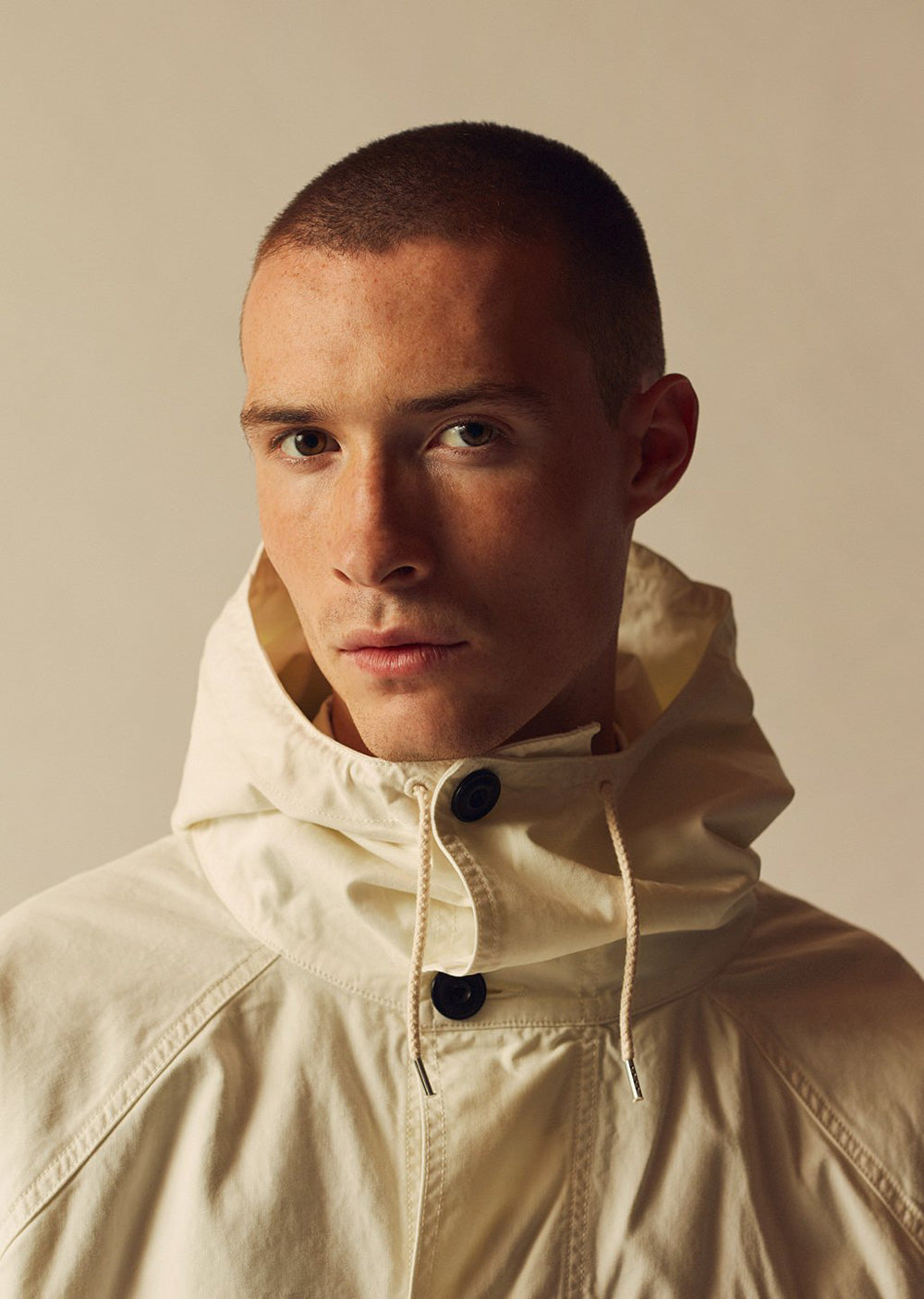 Albam Military Parka in Ecru
