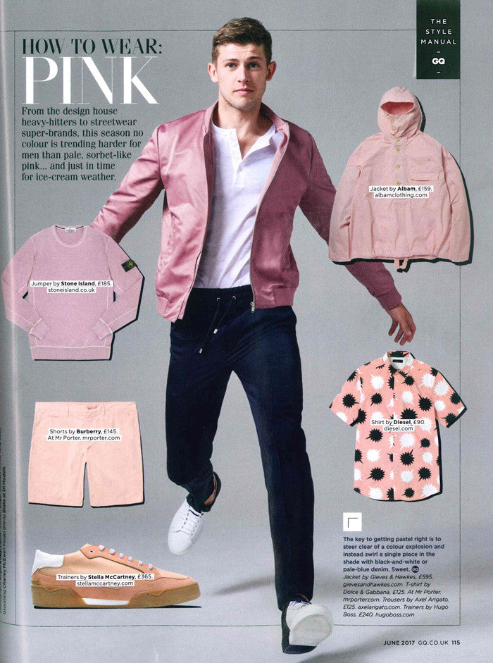 GQ June Albam Pink Smock