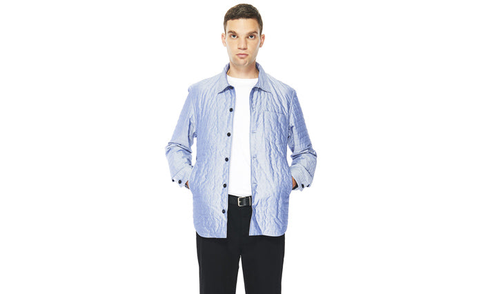 Albam Padded Husky Shirt in Chambray