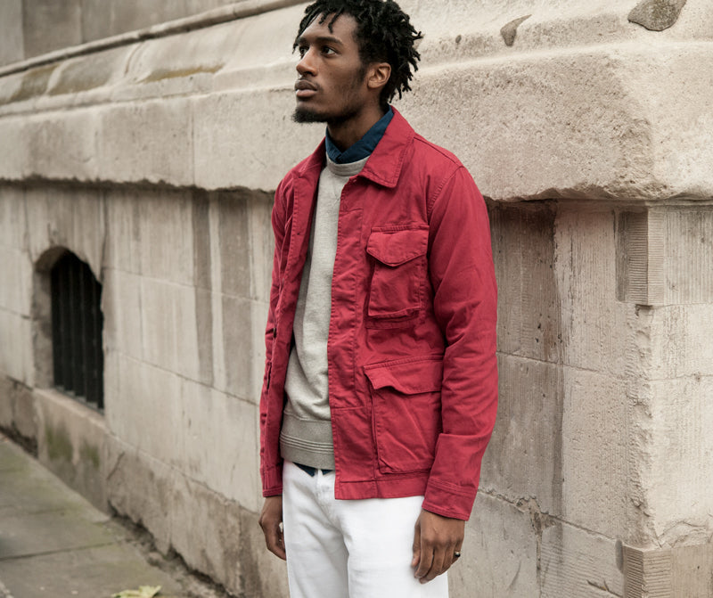 Albam Travel Jacket in Red