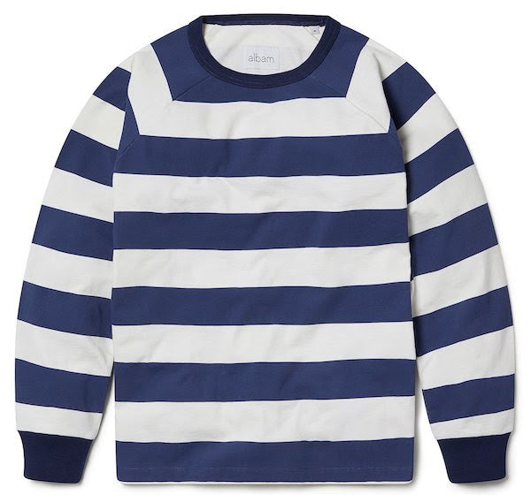 striped raglan sweat