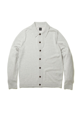 Merino Knitted Shirt in Ecru