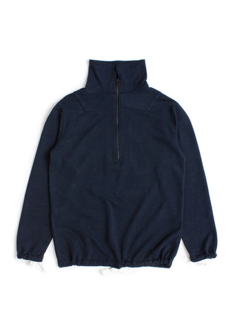 Zip Sweatshirt in Navy
