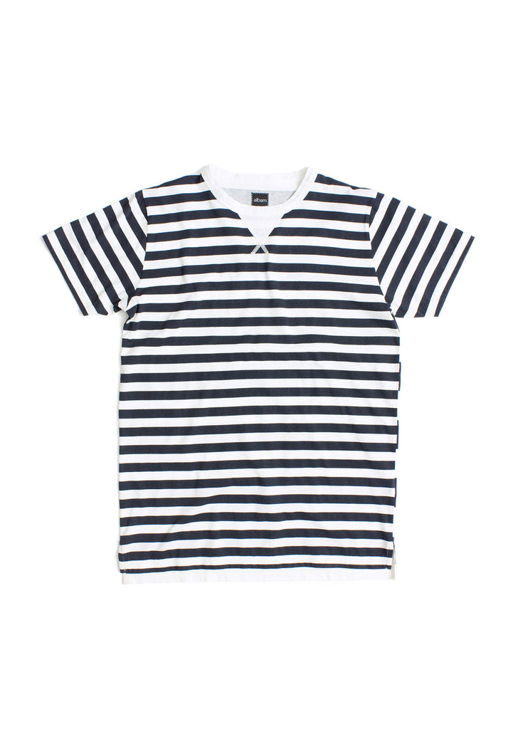 Ocean Multi Stripe T-Shirt in Navy