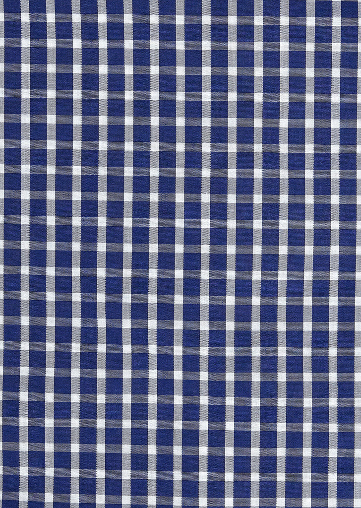Windowpane Shirt in Navy Contrast