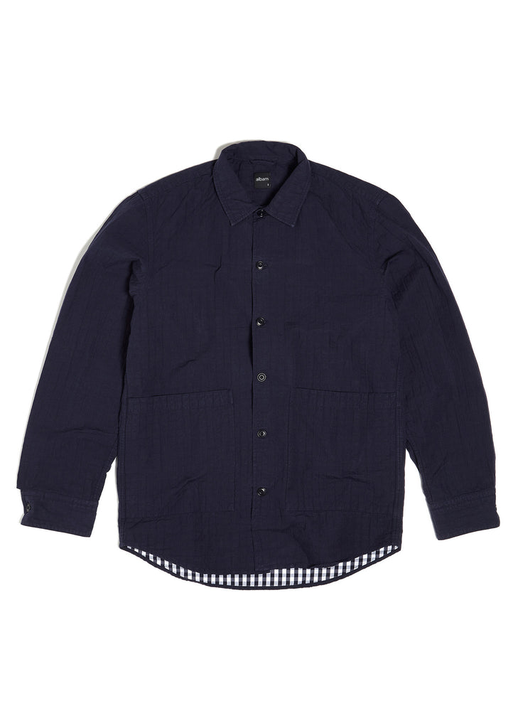 Seersucker Summer Jacket in Navy