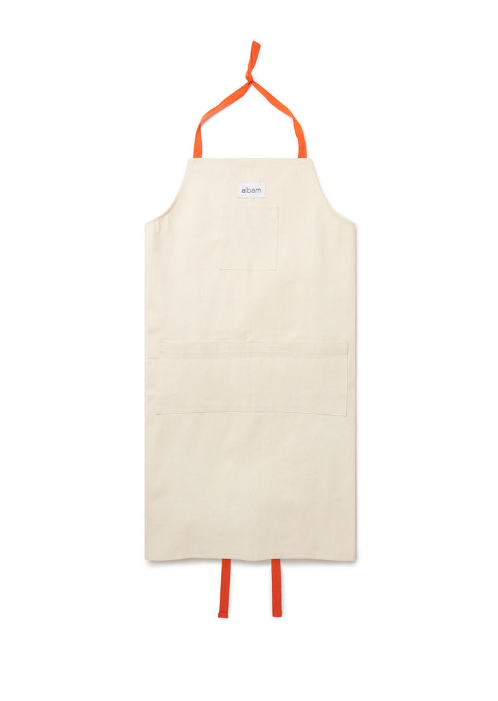 Made in England Workers Apron in Ecru