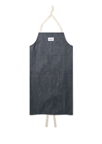 Made in England Workers Apron in Denim